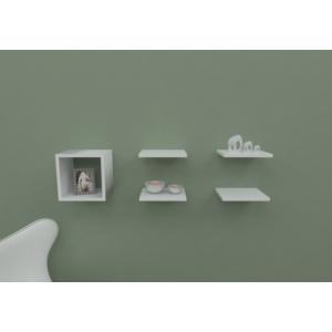 navdecoration ider duvar rafı ve kitaplık - ceviz - beyaz