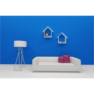 lüxhouse estetik duvar rafı ve kitaplık - ceviz - beyaz