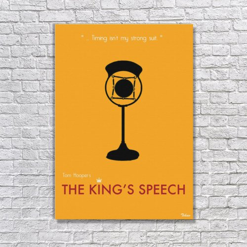 Albitablo Poster The King's Speech Kanvas Tablo