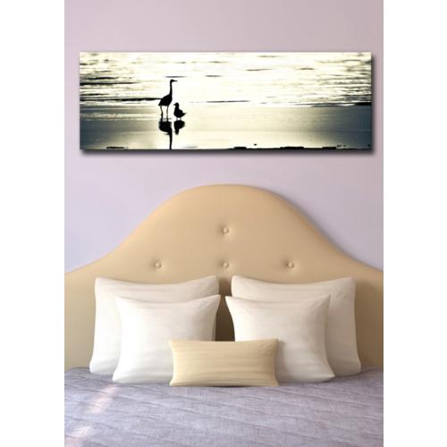 TabloModern Kıyıda Kuşlar Kanvas Tablo 30x90 cm
