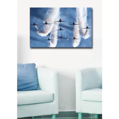 Mania Uçak Gösterisi Kanvas Tablo 45x70 cm