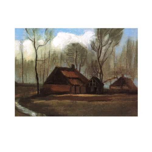 ARTİKEL Farmhouses Among Trees 50x70 cm KS-1045