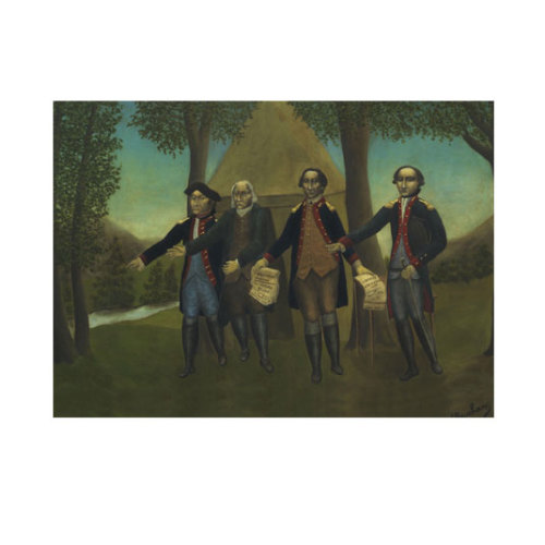 ARTİKEL André Bauchant - The Proclamation of American Independence 50x70 cm KS-1217