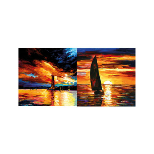 ARTİKEL Romantic Sailing 2 Parça Kanvas Tablo 80x40 cm KS-764