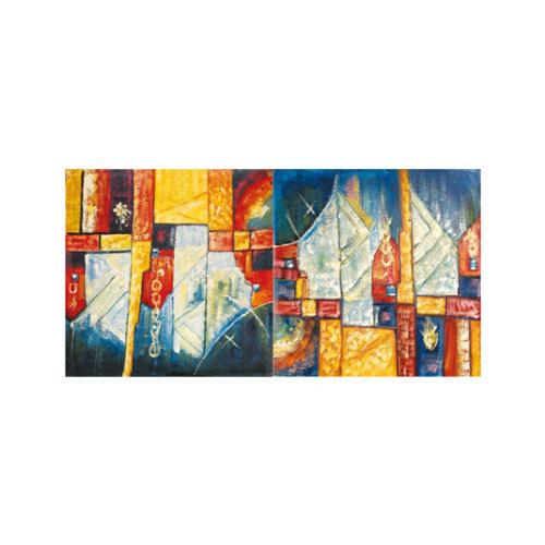 ARTİKEL Solid Shapes 2 Parça Kanvas Tablo 80x40 cm KS-630