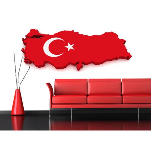 Artmodel Türk Bayrağı Poster Duvar Kağıdı PDA-18