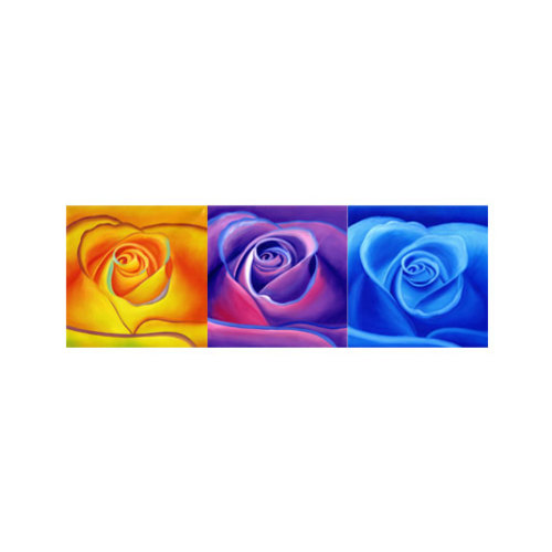ARTİKEL Three Roses 3 Parça Kanvas Tablo 40x120 Cm KS-878