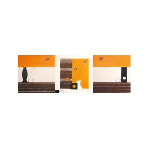 ARTİKEL Truffle Butter 3 Parça Kanvas Tablo 40X120 Cm KS-629