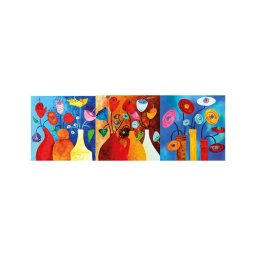 ARTİKEL Riot of Colours 3 Parça Kanvas Tablo 40X120 Cm KS-682