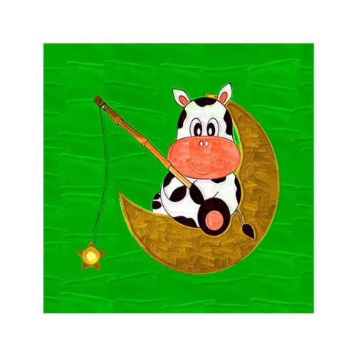 ARTİKEL Sitting Cow 4 Parça Kanvas Tablo 70x70 cm KS-225