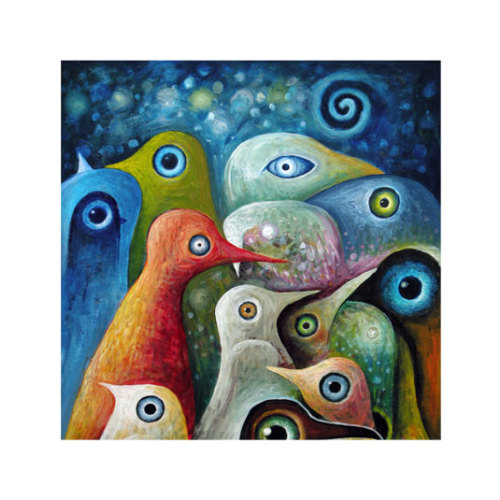 ARTİKEL Surreal Ducks 4 Parça Kanvas Tablo 70x70 cm KS-209
