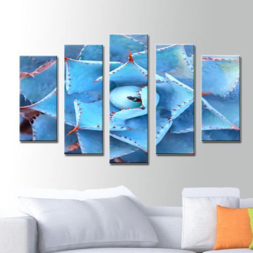 K Dekorasyon Mavi 5 Parçalı Mdf Tablo KM5P1773
