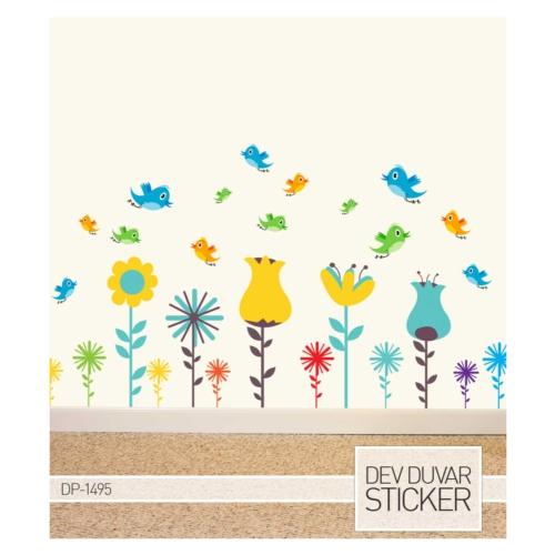 Artikel Çiçekler Alemi Dev Duvar Sticker