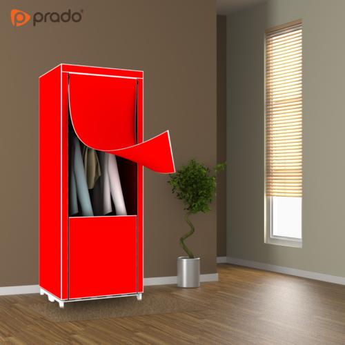 Prado Slim Fit Bez Dolap Kırmızı