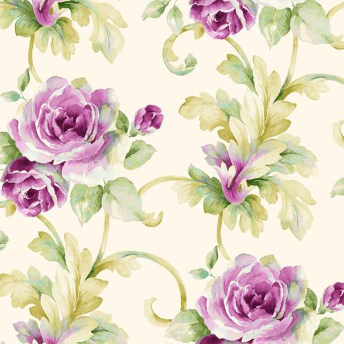 Mot Çiçekli Duvar Kağıdı 10-006002