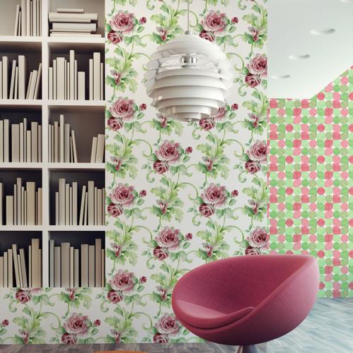 Mot Çiçekli Duvar Kağıdı 10-006103
