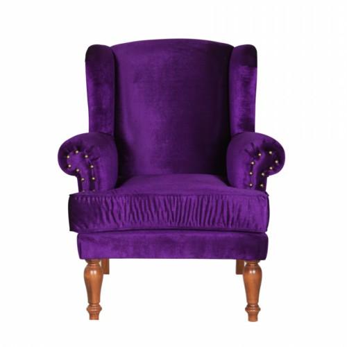 3A Mobilya Purple Kulaklı Berjer