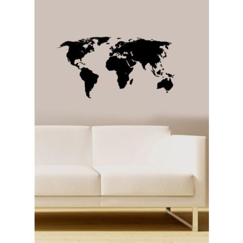 Özgül Grup Özgül Grup Dünya Haritası Duvar Sticker   70x36 cm