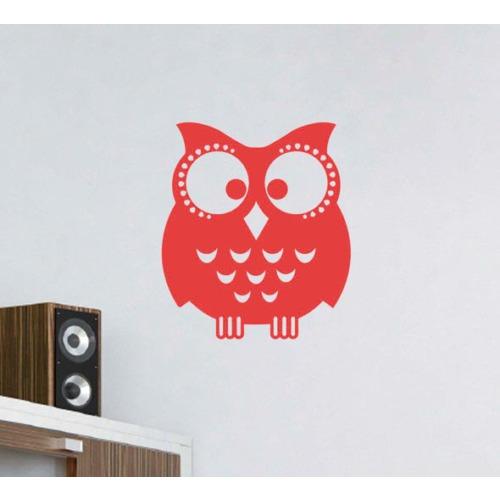 Dekorjinal Kırmızı Baykuş Duvar Sticker CST079