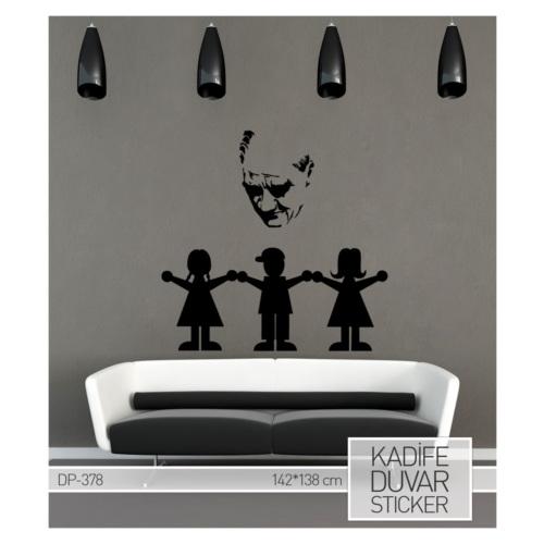 Artikel Çocuklar Kadife Duvar Sticker 142x138 cm DP 378