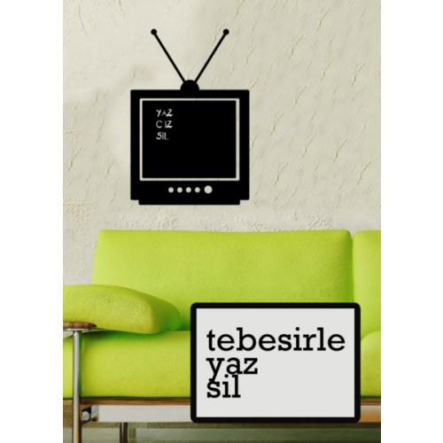 Yaz-Sil Sticker Eski Televizyon