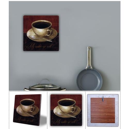 Oscar Stone Kahve Fincanı Doğal Taş Tablo - 20X20 Cm