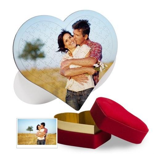 BuldumBuldum Kadife Kutuda Kalp Puzzle - 97 Parça