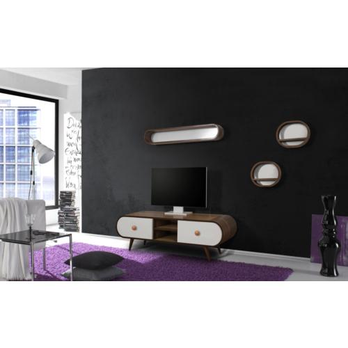 Te Home Retro Oval 4 Modül Tv Ünite yuvarlak Kulp olarak göncelleyelim görselde bu ürünün görseli mevcut.