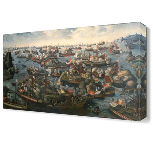 Dekor Sevgisi İnebahtı Deniz Muharemesi Canvas Tablo 45x30 cm