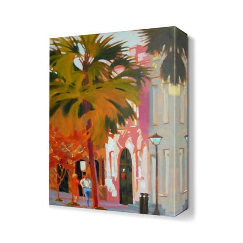 Dekor Sevgisi Büyük Ağaç ve Sevgililer Tablosu 45x30 cm