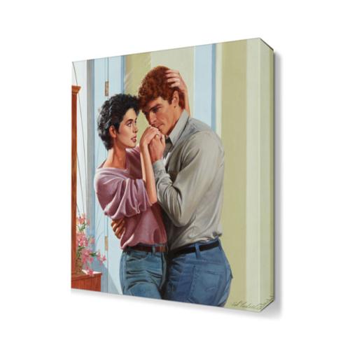 Dekor Sevgisi Eski Aşıklar Tablosu 45x30 cm