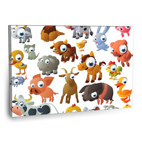 Fotografyabaskı Çiftlik Hayvanları Tablosu 75 Cm X 50 Cm Kanvas Tablo