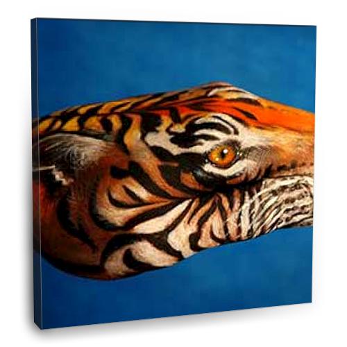 Fotografyabaskı Tiger Tablosu 70 Cm X 70 Cm Kanvas Tablo Baskı
