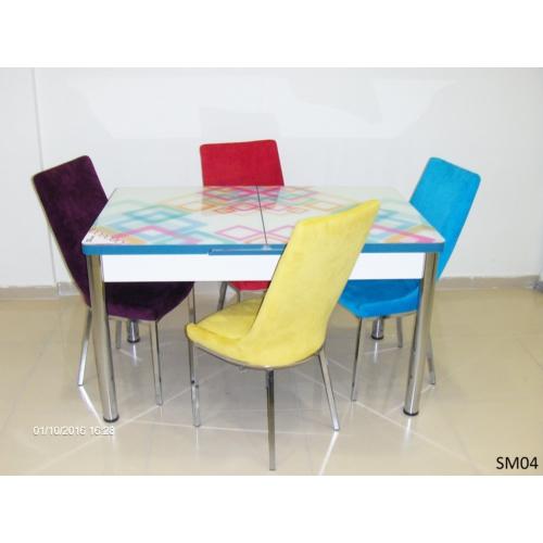 Teknoset Mutfak Masa Takımı Sm04Karışık