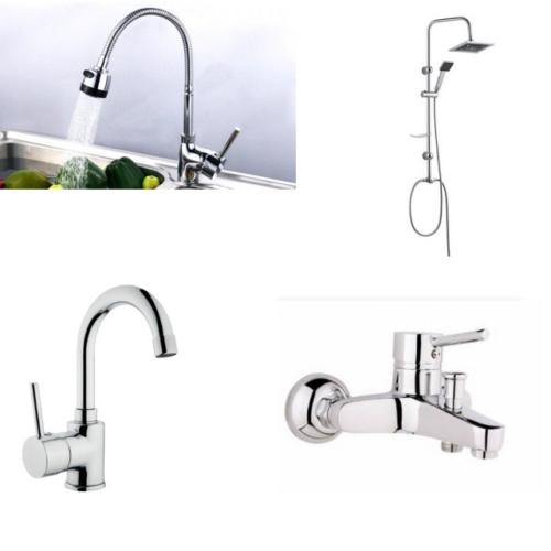 Erce Delta Spiralli Evye + Lavabo + Banyo Bataryası + Robot Duş Takımı