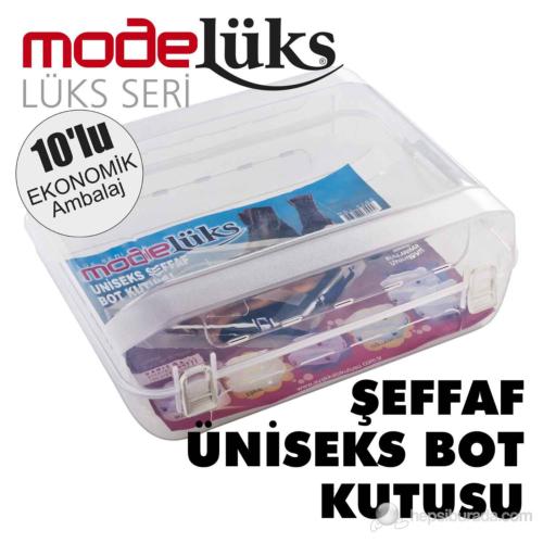 Modelüx Şeffaf Bot Kutusu Şeffaf 10 lu Paket