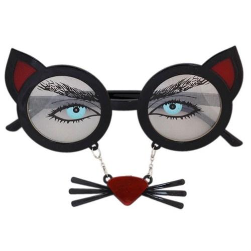 Pandoli Kedi Gözlüğü Bıyıklı Siyah