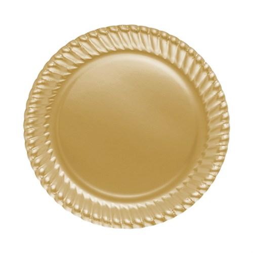 KullanAtMarket Altın Karton Tabak