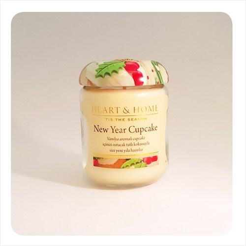 H&H Küçük Mum New Year Cupcake