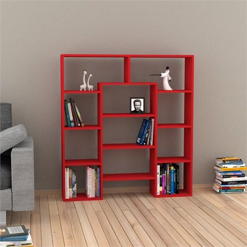 Decortie Passage Kitaplık Kırmızı