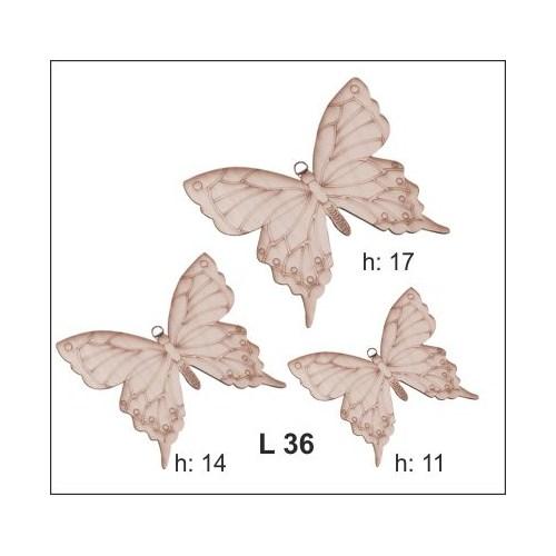 Hobi Ahşap Dekoratif-3 Lü Kelebek