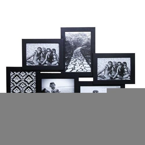 6'Li Çoklu Fotoğraf Çerçevesi 2'Li Set-Siyah