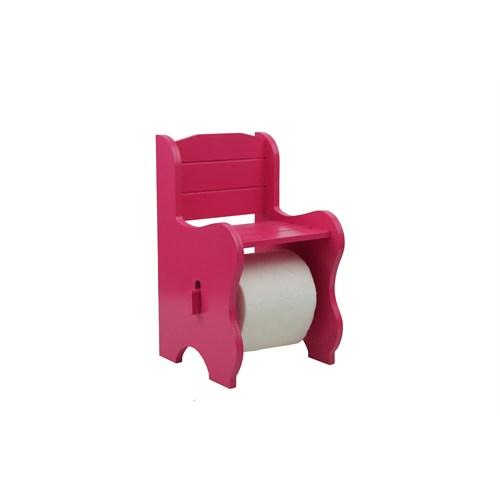 Cosiness Ahşap Tuvalet Kağıtlığı - Fuşya