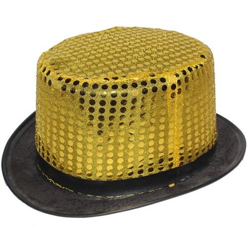 Pandoli Sarı Renk Pullu Melon Parti Şapkası