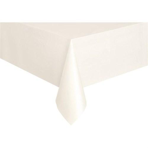 Pandoli Plastik Parti Masa Örtüsü Beyaz Renk