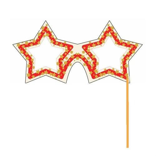 Pandoli Yıldız Şeklinde Sopalı Parti Gözlüğü Konuşma Balonu