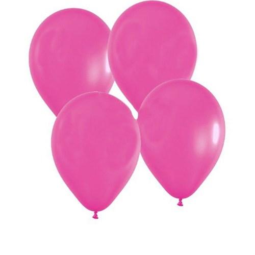 Pandoli Fuşya Pembe Metalik 25 Adet Düz Renk Sedefli Latex Balon