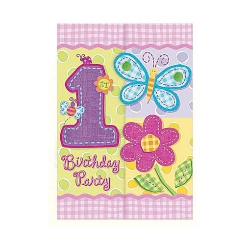 Parti Paketi İlk Yaş Partisi Kız Davetiye