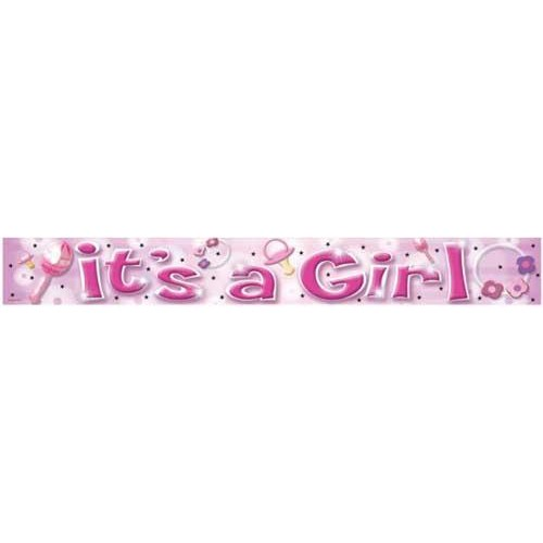 Parti Paketi It's A Girl Folyo Banner