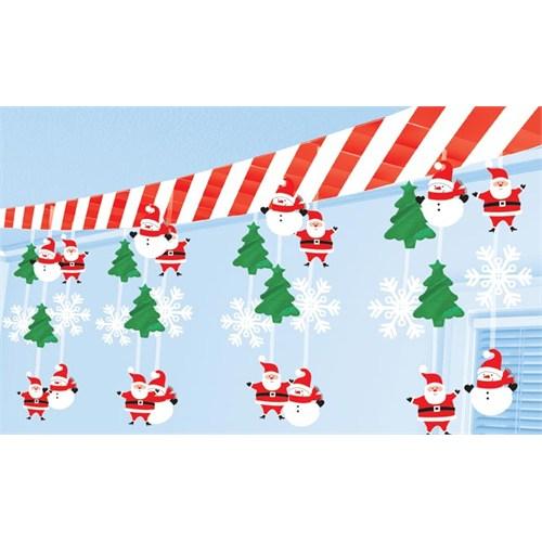 Parti Paketi Noel Baba Ve Kardan Adam Tavan Dekoru